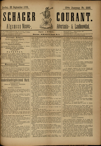 Schager Courant 1889-09-22