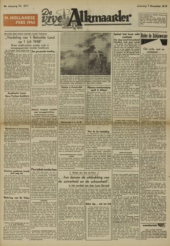 De Vrije Alkmaarder 1947-11-01