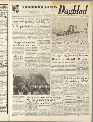 Noordhollands Dagblad : dagblad voor Alkmaar en omgeving 1958-04-22