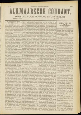 Alkmaarsche Courant 1914-04-25