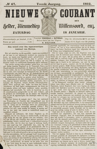 Nieuwe Courant van Den Helder 1862-01-18