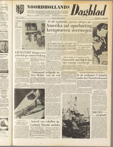 Noordhollands Dagblad : dagblad voor Alkmaar en omgeving 1958-04-10