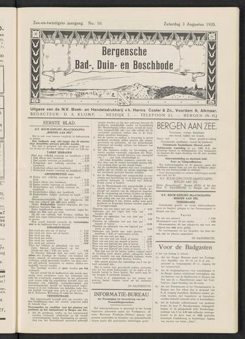 Bergensche bad-, duin- en boschbode 1935-08-03