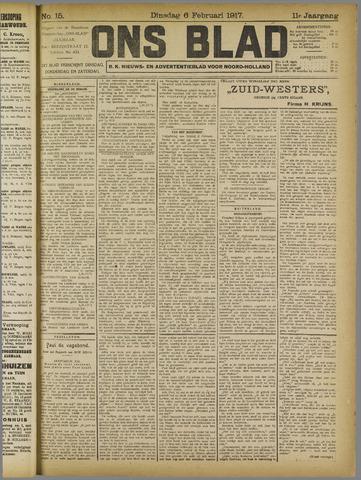 Ons Blad : katholiek nieuwsblad voor N-H 1917-02-06