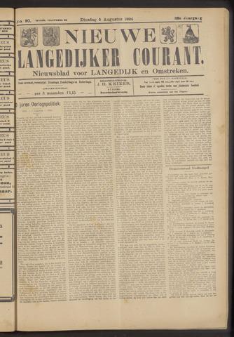 Nieuwe Langedijker Courant 1924-08-05