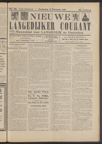 Nieuwe Langedijker Courant 1925-11-12