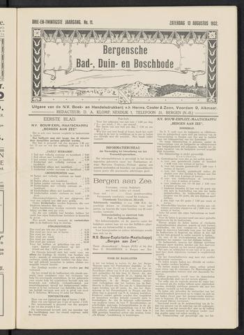 Bergensche bad-, duin- en boschbode 1932-08-13