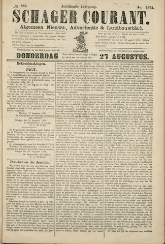 Schager Courant 1874-08-27
