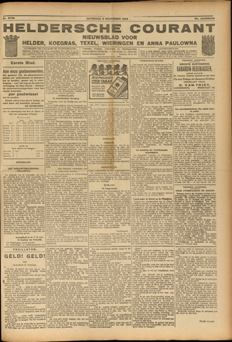 Heldersche Courant 1923-11-03