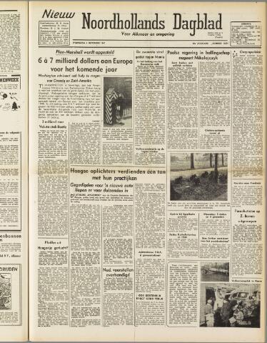 Nieuw Noordhollandsch Dagblad : voor Alkmaar en omgeving 1947-11-05
