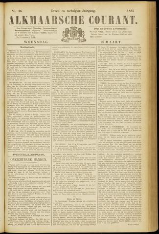 Alkmaarsche Courant 1885-03-25