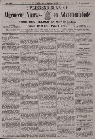 Vliegend blaadje : nieuws- en advertentiebode voor Den Helder 1875-01-09