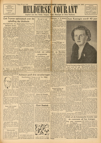 Heldersche Courant 1949-04-29