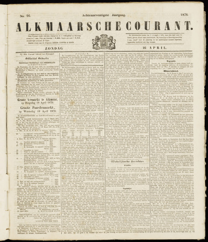 Alkmaarsche Courant 1876-04-16