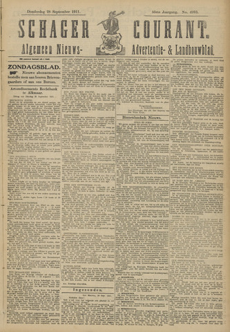 Schager Courant 1911-09-28
