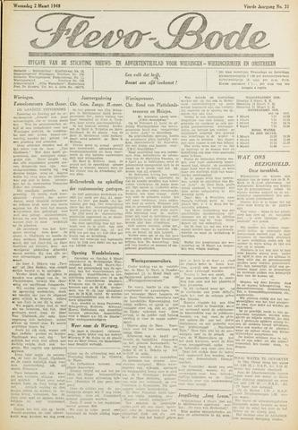Flevo-bode: nieuwsblad voor Wieringen-Wieringermeer 1949-03-02
