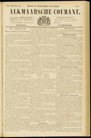 Alkmaarsche Courant 1895-09-22