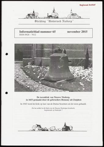 Informatieblad stichting Historisch Niedorp 2015-11-01