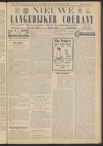Nieuwe Langedijker Courant 1929-11-02