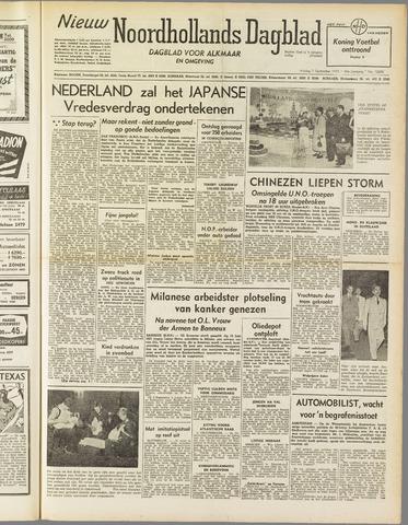 Nieuw Noordhollandsch Dagblad : voor Alkmaar en omgeving 1951-09-07