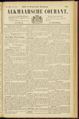 Alkmaarsche Courant 1896-11-15