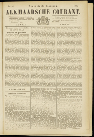 Alkmaarsche Courant 1888-04-01