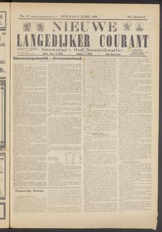 Nieuwe Langedijker Courant 1930-04-08