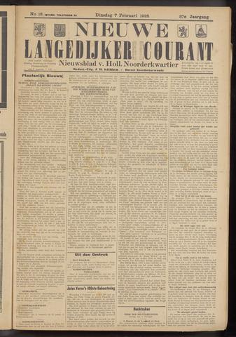 Nieuwe Langedijker Courant 1928-02-07