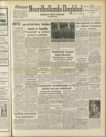 Nieuw Noordhollandsch Dagblad : voor Alkmaar en omgeving 1952-01-22