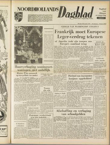 Noordhollands Dagblad : dagblad voor Alkmaar en omgeving 1953-12-15
