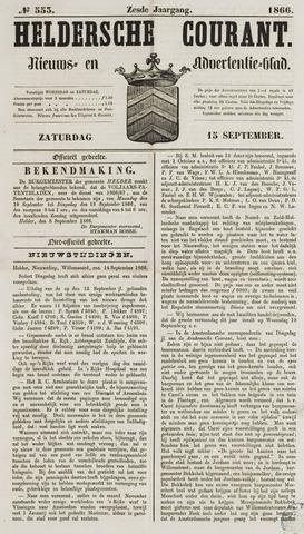 Heldersche Courant 1866-09-15