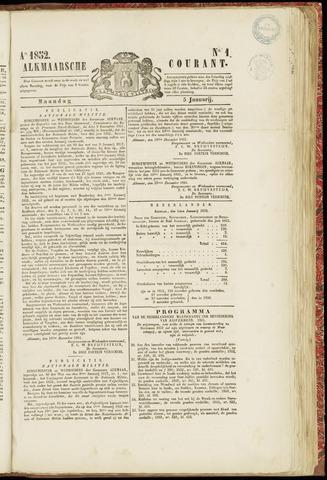 Alkmaarsche Courant 1852-01-05