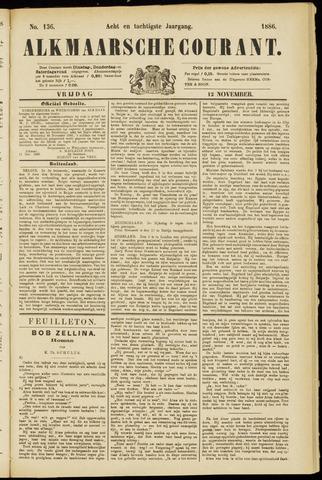Alkmaarsche Courant 1886-11-12