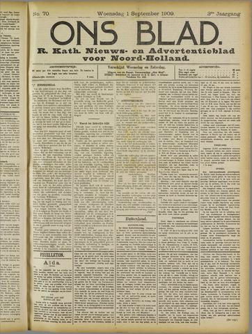 Ons Blad : katholiek nieuwsblad voor N-H 1909-09-01
