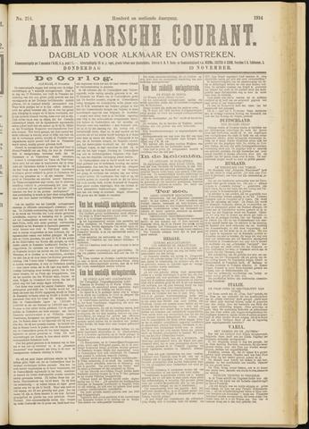 Alkmaarsche Courant 1914-11-19