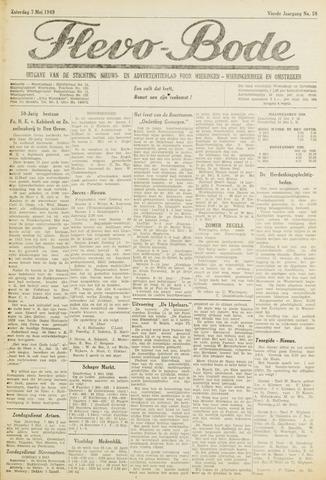Flevo-bode: nieuwsblad voor Wieringen-Wieringermeer 1949-05-07
