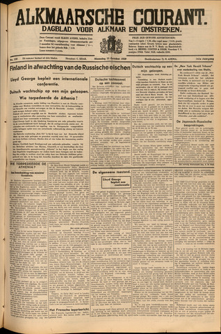 Alkmaarsche Courant 1939-10-23