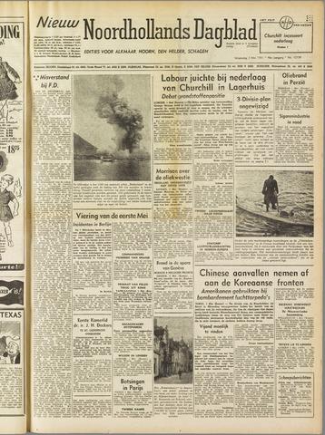 Nieuw Noordhollandsch Dagblad : voor Alkmaar en omgeving 1951-05-02