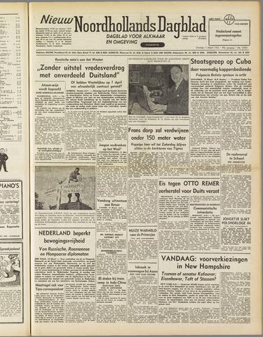 Nieuw Noordhollandsch Dagblad : voor Alkmaar en omgeving 1952-03-11