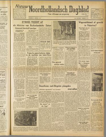 Nieuw Noordhollandsch Dagblad : voor Alkmaar en omgeving 1947-01-08