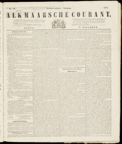 Alkmaarsche Courant 1874-12-27
