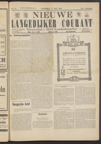 Nieuwe Langedijker Courant 1932-05-17