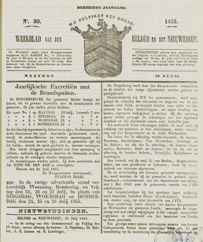 Weekblad van Den Helder en het Nieuwediep 1855-07-23