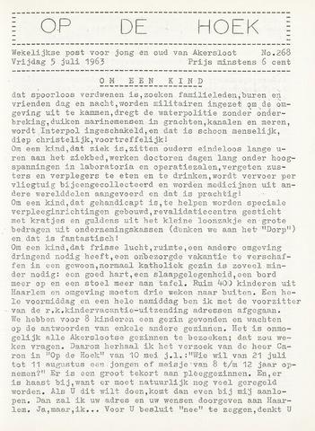 Op De Hoek, weekblad voor Akersloot 1963-07-05