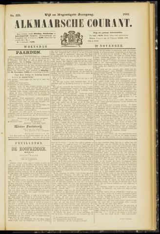 Alkmaarsche Courant 1893-11-22