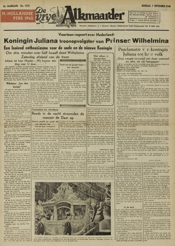 De Vrije Alkmaarder 1948-09-07