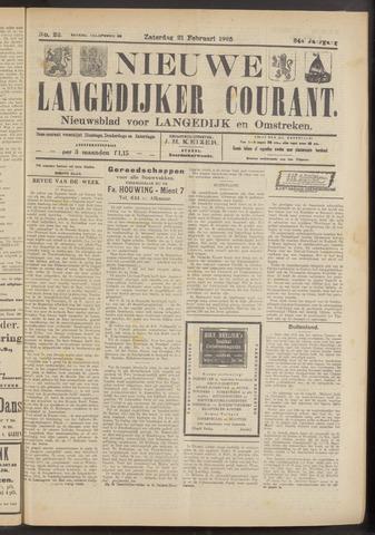 Nieuwe Langedijker Courant 1925-02-21