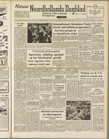 Nieuw Noordhollandsch Dagblad : voor Alkmaar en omgeving 1951-09-12