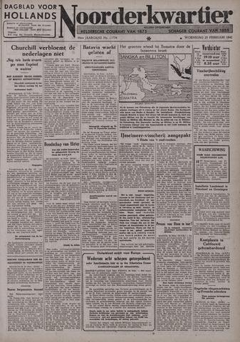 Dagblad voor Hollands Noorderkwartier 1942-02-25