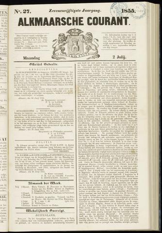 Alkmaarsche Courant 1855-07-02